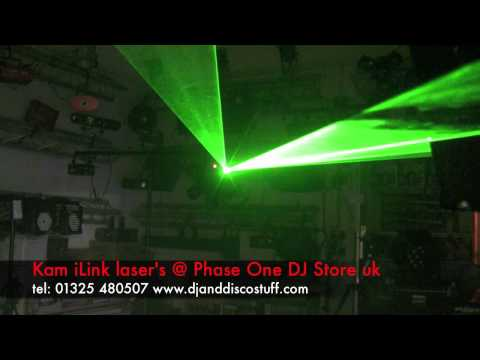 kam  ilink laser's @ phase one dj store