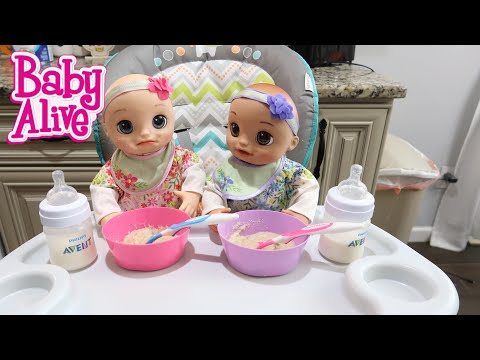 Xxx Mp4 BABY ALIVE Twins Morning Routine Baby Alive Real As Can Be Baby 3gp Sex