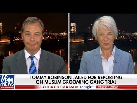 Nigel Farage & Katie Hopkins George Soros Tommy Robinson on Tucker Carlson Tonight.