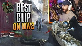 MY LUCKIEST CLIP!! (INSANE COD WW2 Sniping Gameplay & Epic Moments)