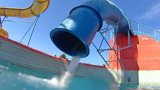 Strange Drop Water Slide at Veneza Water Park