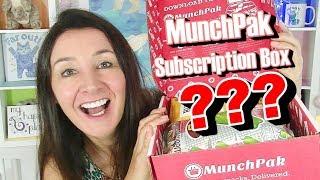 Munchpak Subscription Box Taste Test April