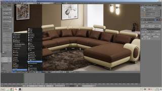 blender tutorial (build a couch) part 1 with (principled shader & denoise)
