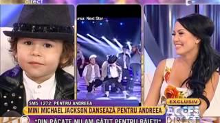 David Focsanschi, micul Michael Jackson, o cucereşte pe Andreea Mantea