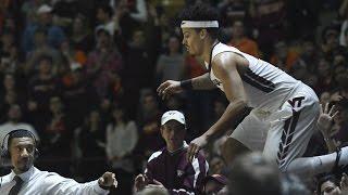 Download Virginia Tech's Seth Allen Flies Into Crowd & Balances On Railing | CampusInsiders 3Gp Mp4