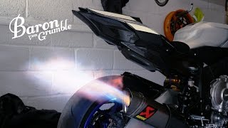 Akraprovic R1M Exhaust and Carbon Yamaha Strippage