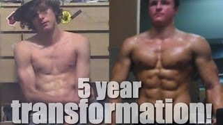 5-year Transformation from 135 lbs to 210 lbs of Muscle!