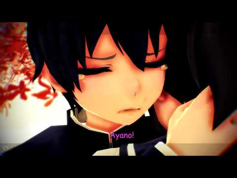 (MMD x YS    Motion DL) Fake Yandere Simulator Sad Ending [Taro x Ayano]