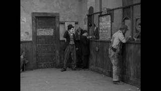 """Charlie Chaplin at the Employment Office (clip from """"A Dog"""