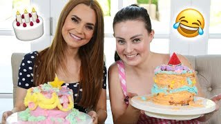 CAKE DECORATING WITH A BLIND GIRL ft Molly Burke!