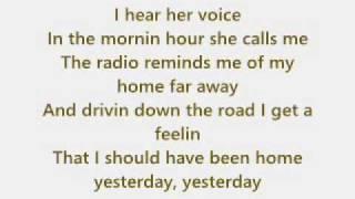 John Denver - Take me home, Country Roads + Text