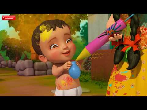 HOLI AAYEE | Hindi Rhymes for Children | Infobells