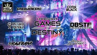 Knockout - Games of Destiny 2018 (Part 1) | Headhunterz, Psyko Punkz, Code Black, DBSTF + MORE!