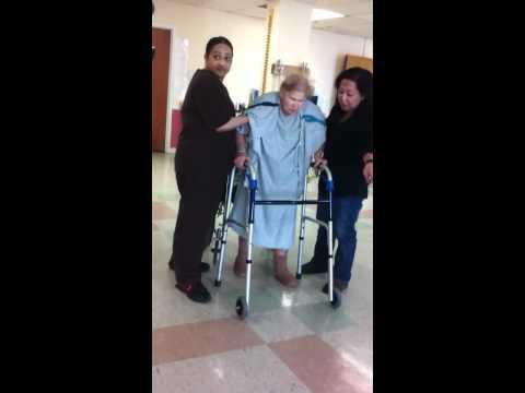 Grandma walks
