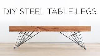 DIY Steel Table Legs | How to weld hair pin style legs