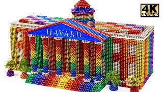 DIY - How To Build Harvard Business School From Magnetic Balls (Satisfying) | Magnet World Series