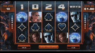 Terminator 2 video slot   Hot mode free spins   Microgaming  