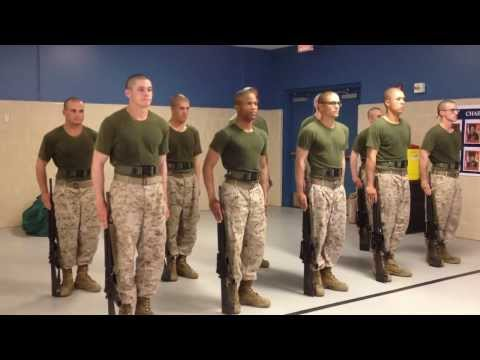 USMC Recruits Snap & Pop Parris Island Boot Camp