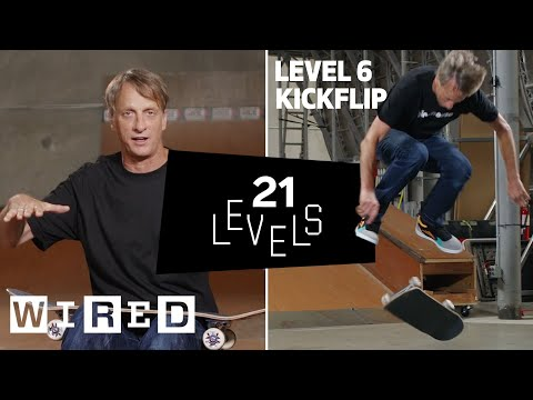 21 Levels of Skateboarding with Tony Hawk Easy to Complex WIRED