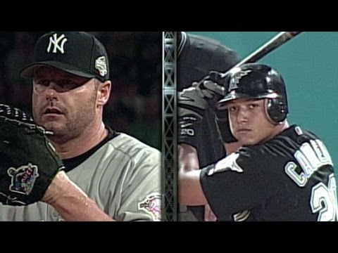 2003 WS Gm4 Cabrera hits two run homer vs. Clemens