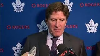 "Maple Leafs ""got slapped"" any way Babcock looks at it"