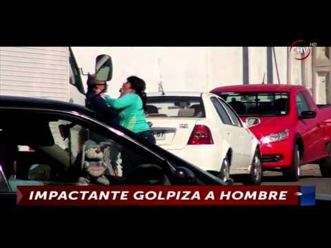 Registran a mujer dándole una brutal golpiza a hombre en San Antonio CHV Noticias