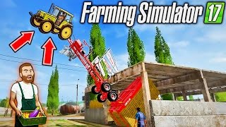 FARMER HIKE: FIXING THE FARM - Farming Simulator 2017 Funny Moments