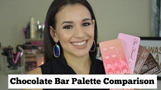 Too Faced Chocolate Bar Palette Comparison | Original, Semi Sweet, Bon Bons and Sweet Peach