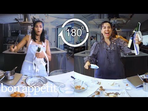 Xxx Mp4 Padma Lakshmi Tries To Keep Up With A Professional Chef In 180º Back To Back Chef Bon Appétit 3gp Sex