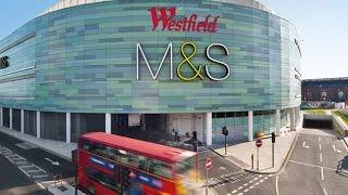 Westfield Shopping /Mall Centre London, UK (4K Ultra HD video)