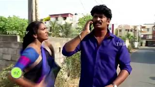 Aunty Huge Belly & Deep Navel Slip While Running in saree