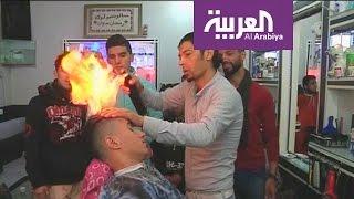 صباح العربية : حلاق مصري يحرق شعر زبائنه