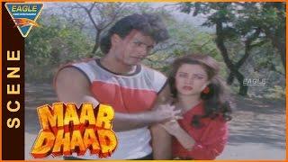 Maar Dhaad Hindi Movie || Hemant Birje Super Fight Scene || Hemant Birje, Mandakini, Huma Khan