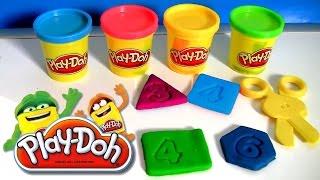 Play-Doh Letras e Números da Hasbro Massinhas de Modelar   Learn ABC with Play Doh Letters & Numbers