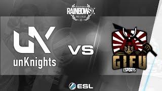 Rainbow Six Pro League - Season 2 - PC - EU - unKnights vs. Gifu - Week 2