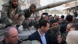 الأسد يزور الغوطة الشرقية لأول مرة منذ سنوات