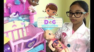 Disney Doc McStuffins Baby All In One Nursery Unboxing | Toys Academy