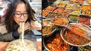 KOREAN STREET FOOD at Mangwon Market in Seoul