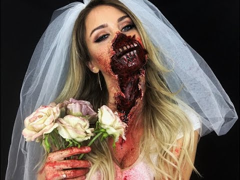 Ripped Mouth ZOMBIE Bride Makeup Nadine Mayerhofer