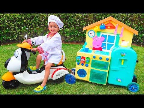 Xxx Mp4 Child Vlad Pretend Play Toy Cafe On Wheels 3gp Sex
