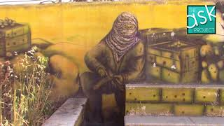 Palestinian graffiti: The story of Palestine (Jerusalem-Ramallah road)