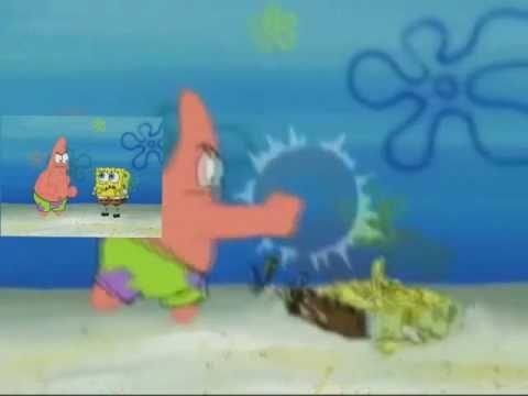 Patrick punchs SpongeBob Sparta Remix Extended