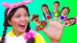 Shapes Finger Family Song - Nursery Rhymes for Kids