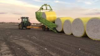 Cotton Equipment Bale Runner Unloading Bales