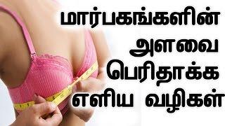 மார்பகங்களின் அளவை பெரிதாக்க எளிய வழிகள் | How To Increase Breast Size In Tamil