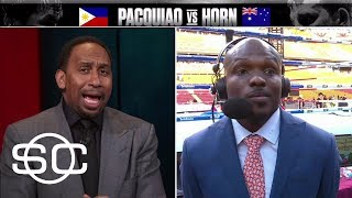 Stephen A., Bradley Jr. Can't See Eye-To-Eye On Pacquiao-Horn Fight | SportsCenter | ESPN