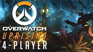 Overwatch: Uprising - CRUSH THE OMNICS!!! (4 Player Gameplay)