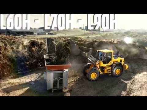 Volvo L60H, L70H, L90H wheel loaders promotional video