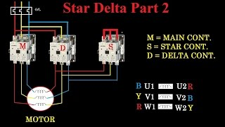 star delta starter - motor control with circuit diagram in hindi part 2
