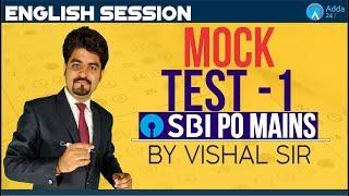 SBI PO MAINS   MOCK TEST 1 FOR SBI PO MAINS 2018   ENGLISH   Vishal parihar sir